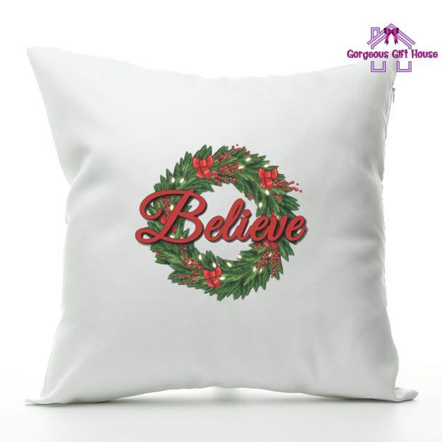 believe christmas cushion