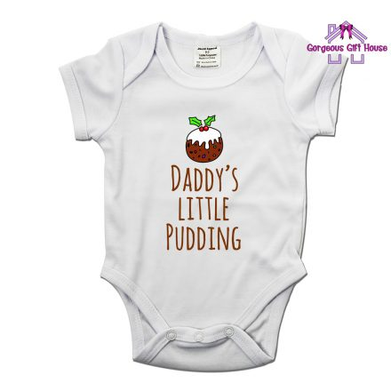 Daddy's Little Pudding Baby Grow