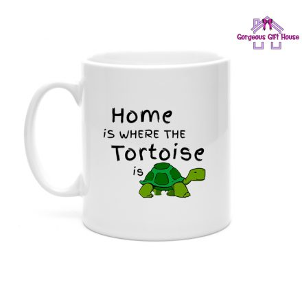 home is where the tortoise is mug