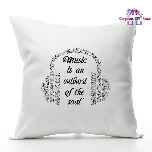 music is an outburst of the soul cushion