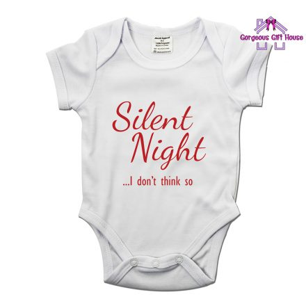 Silent Night, I Don't Think So Baby Grow