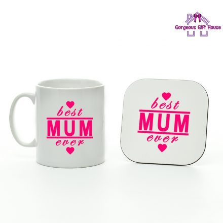 best mum ever mug and coaster set