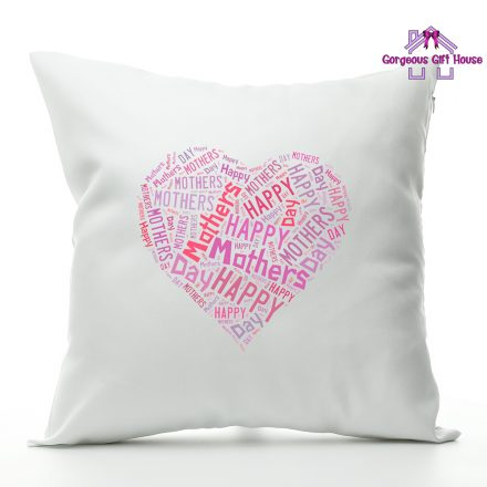 happy mother day heart cushion