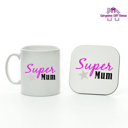 super mum mug and coaster set - mothers day gift