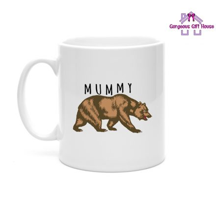 brown bear mummy mug