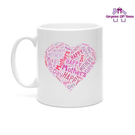 Happy Mother's Day Heart Word Mug