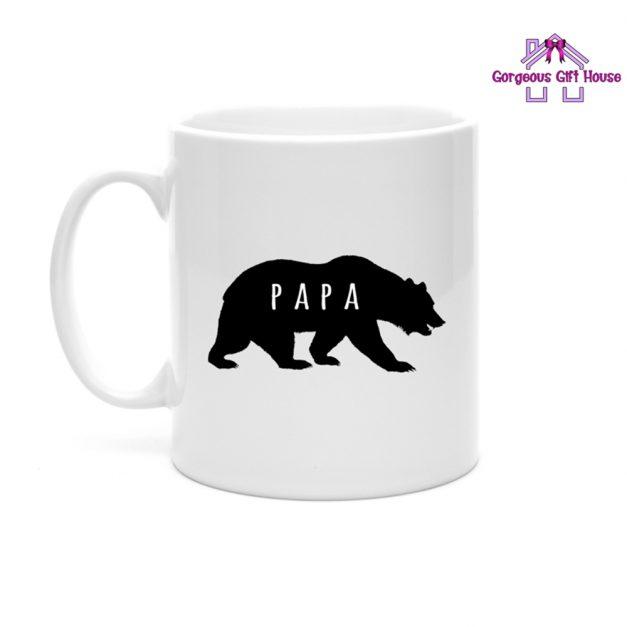 Papa Bear Silhouette Mug