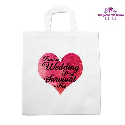 wedding day survival kit tote bag
