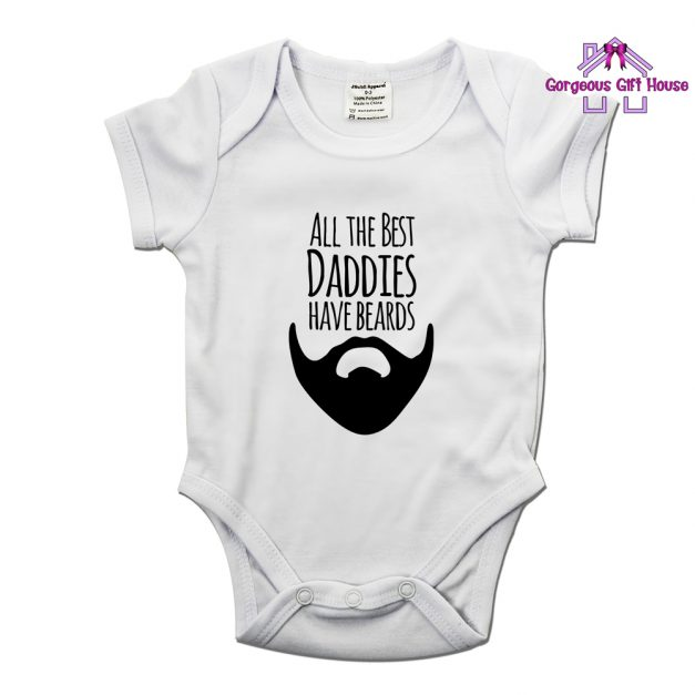 All The Best Daddies Have Beards Baby Grow