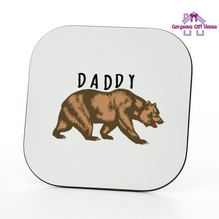brown daddy bear coaster