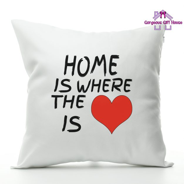 home is where the heart is cushion