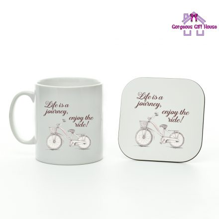 life is a journey enjoy the ride - mug and coaster set