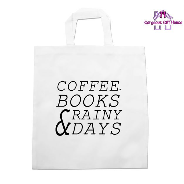 Coffee Books Rainy Days Tote Bag