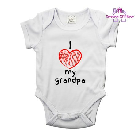 I Love My Grandpa Babygrow
