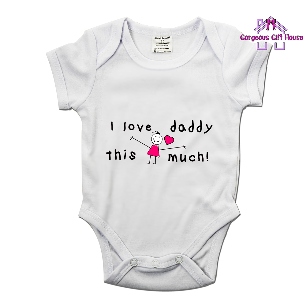 I Love Daddy This Much Girl Babygrow - Gorgeous Gift House