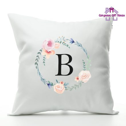 Wreath Initial Cushion
