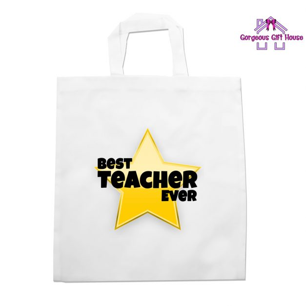 Best Teacher Ever Star Tote Bag