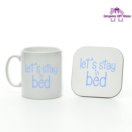 Let's Stay In Bed Mu and Coaster Set