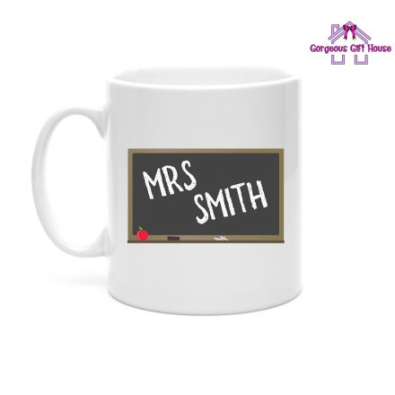 Personalised Teacher Name Blackboard Mug