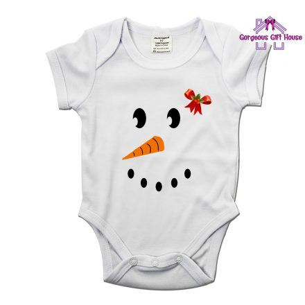 Snow Girl Face Baby Grow