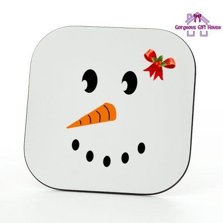Snow Girl Face Coaster