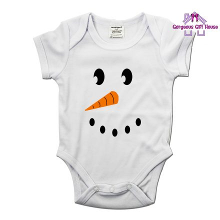 Snow Man Face Baby Grow