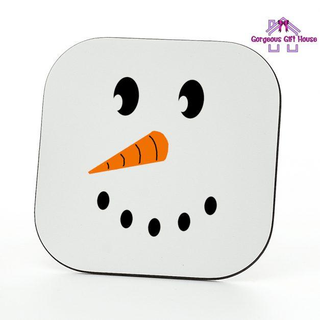 Snow Man Face Coaster