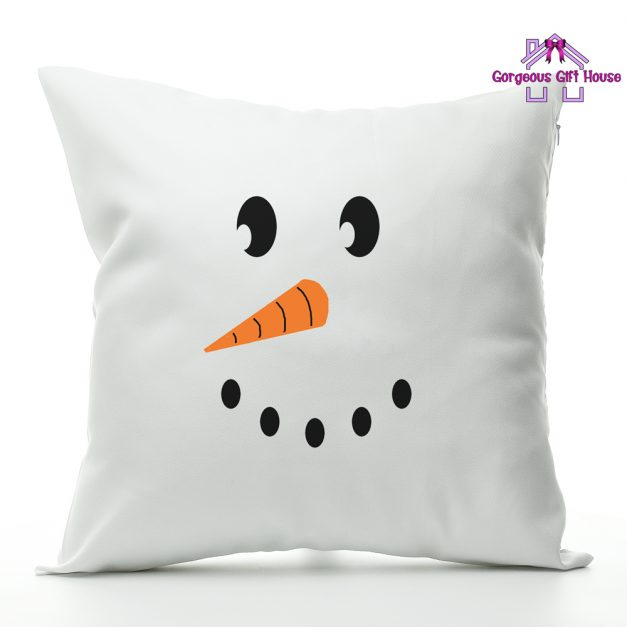 Snow Man Face Cushion