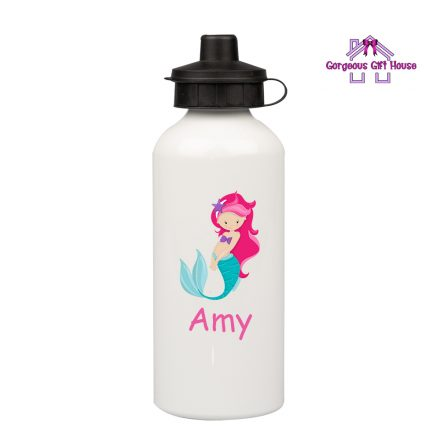 Personalised Water Bottle with Mermaid design