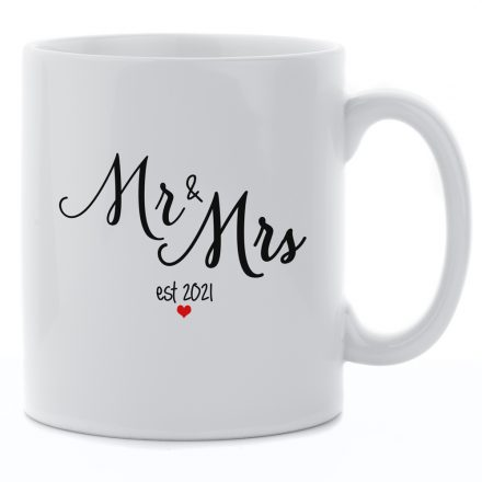 mr and mrs est 2021 mug