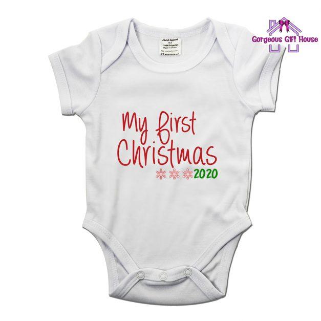 my first christmas 2020 babygrow