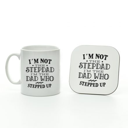 I'm not the stepdad mug and coaster set
