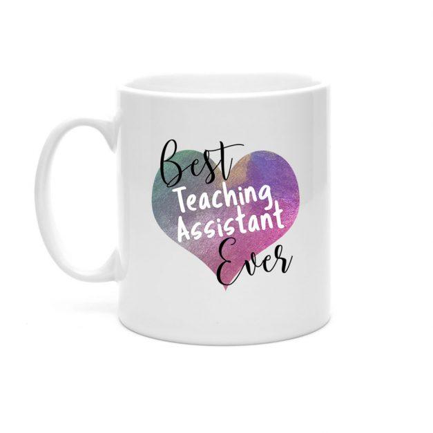 best teaching assistant ever heart mug