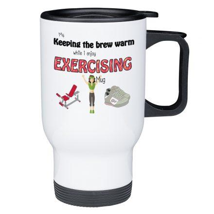 exercising travel mug