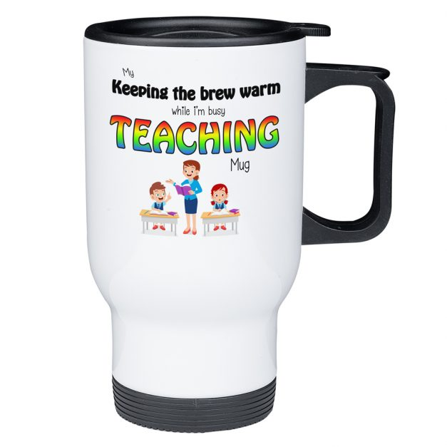keep my brew warm teaching mug