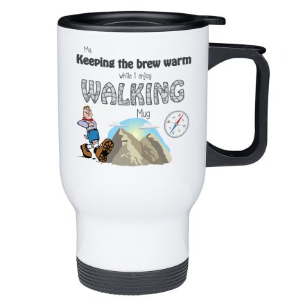 Keeping my brew warm - Walking Travel Mug