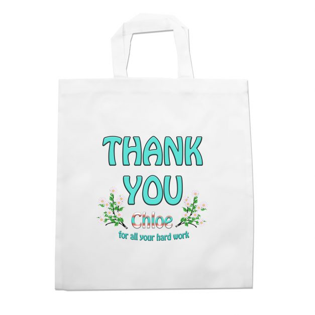 thank you personalised tote bag