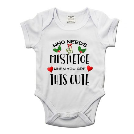 who needs mistletoe when you're this cute babygrow