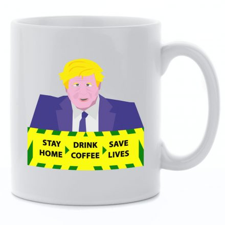stay home save lives drink coffee mug
